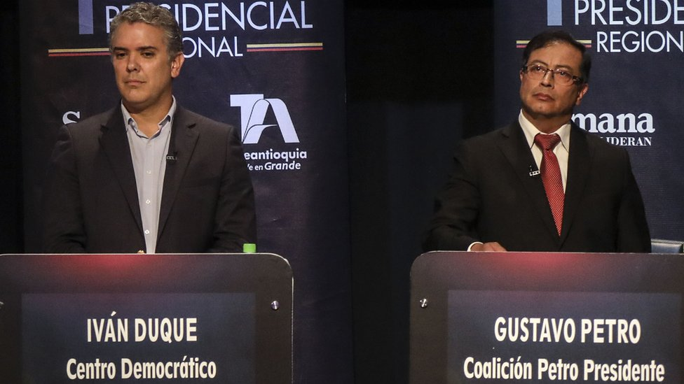 Iván Duque y Gustavo Petro