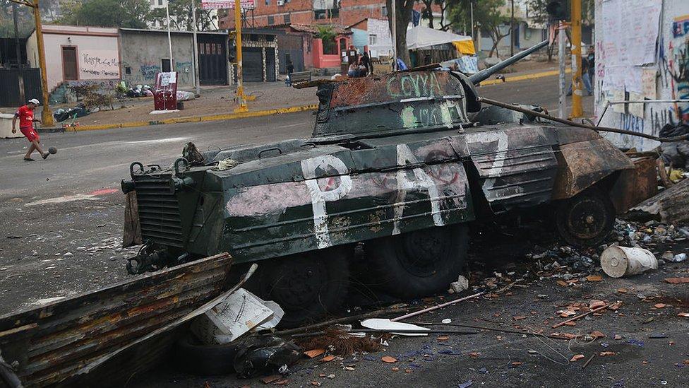 Protesta en el estado Táchira.