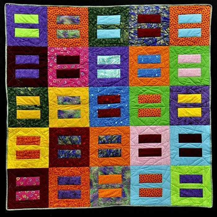 Quilt created by the Chicago quilter Eric Suszynski.
