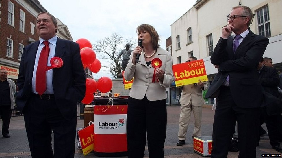 Ian Austin (right), campaigning with Harriet Harman and John Prescott in 2010
