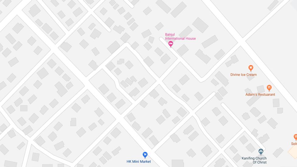 A map of streets of Serrekunda, The Gambia