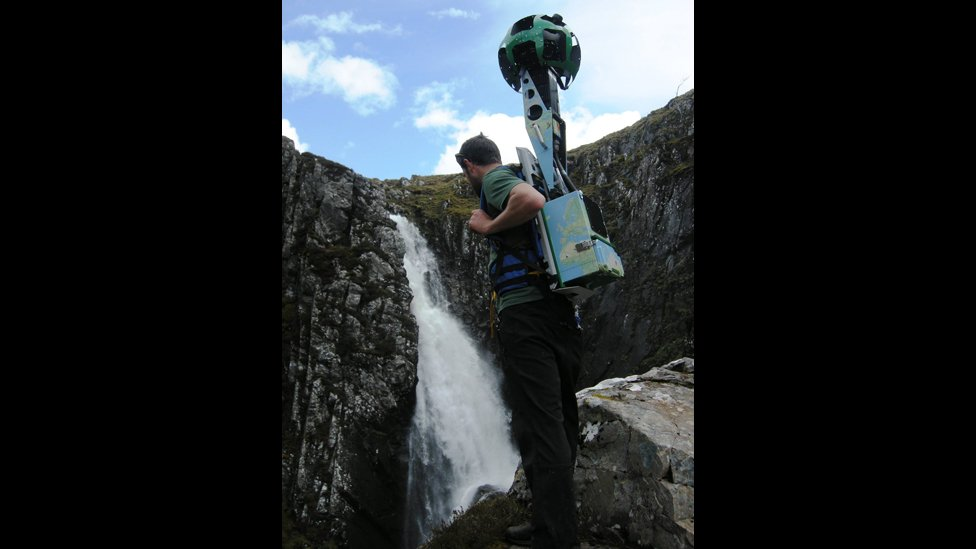 Simon Goodall with a Google Street View camera