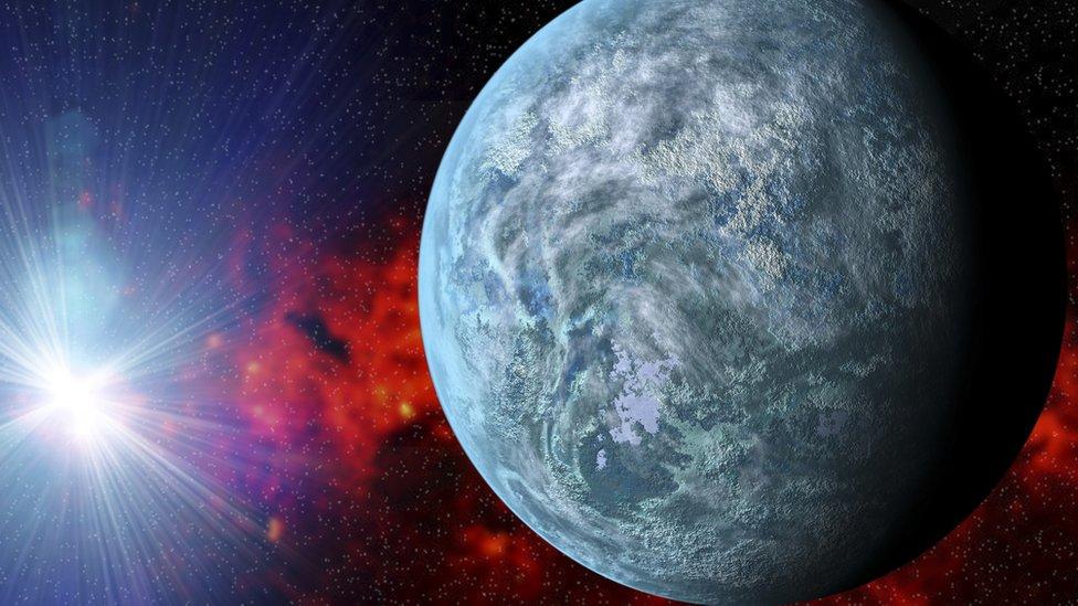 Ilustración de posible exoplaneta.