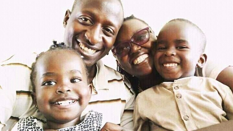 Manuel Mikewa and his family