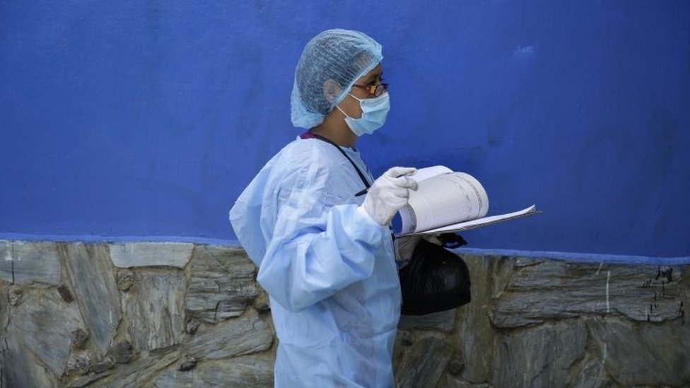 Medical worker wearing PPE