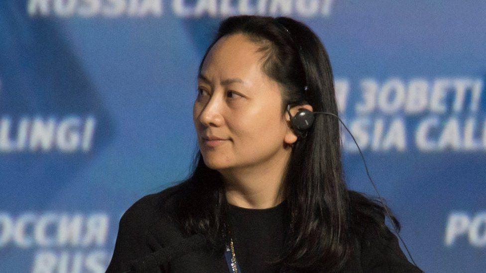 Meng Wanzhou, directora financiera de la gigante tecnológica Huawei.