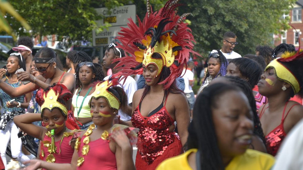 carnival procession - The Caribbean Carnival has been running for 46 years