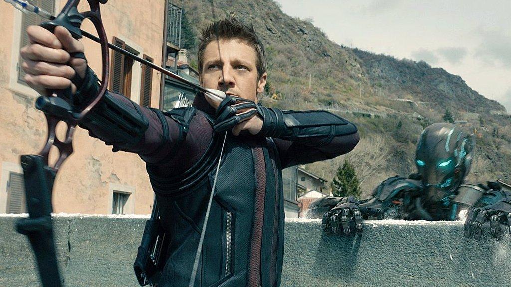 Hawkeye in the battle of Sokovia