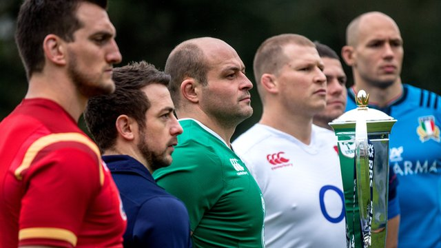 Ireland's Rory Best with the other Six Nations captains