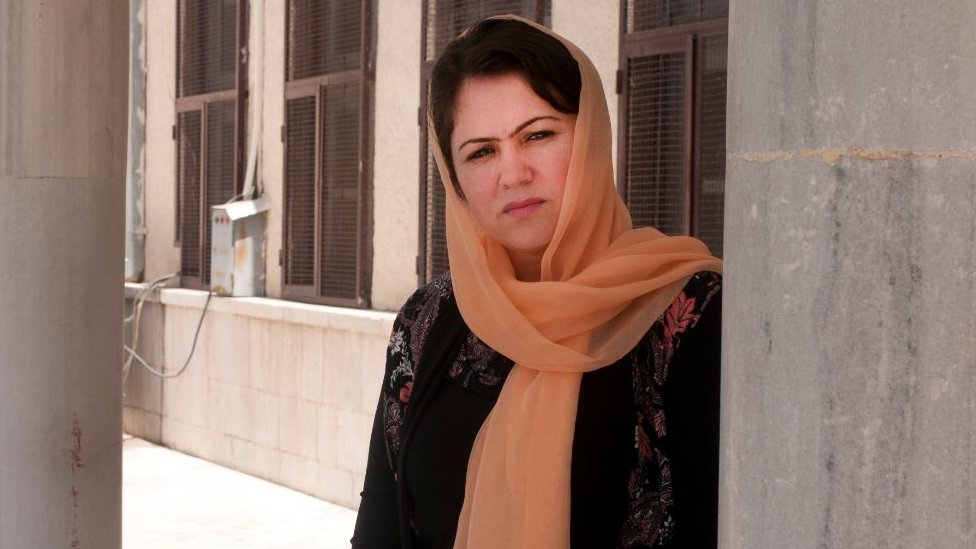 Fawzia Koofi before embarking on an election campaign