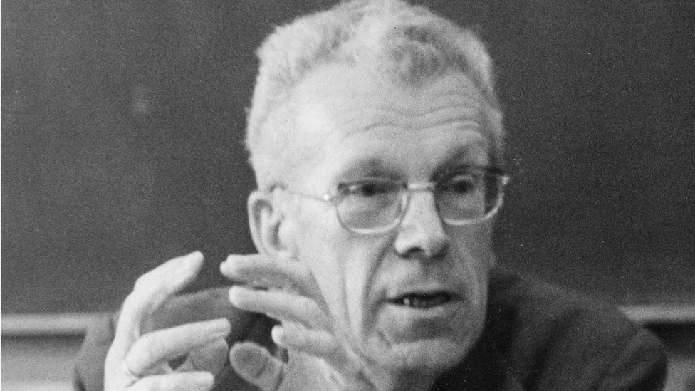 Hans Asperger gives a talk in 1971