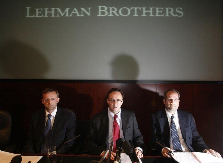 2008年雷曼兄弟宣告破產引發全球金融海嘯