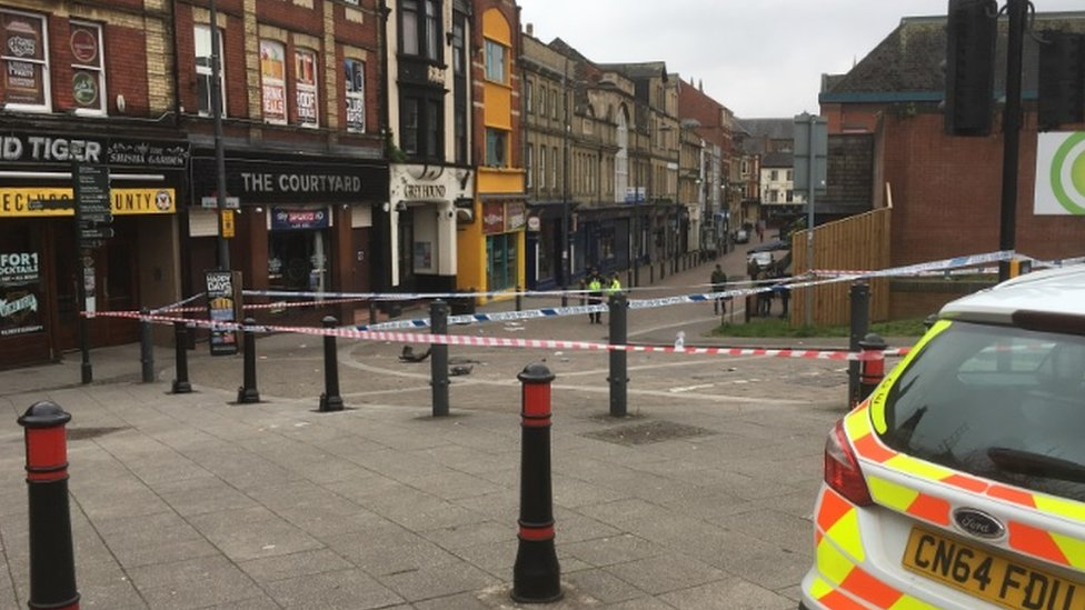 Driver 'tried to stop fight' with car in Newport