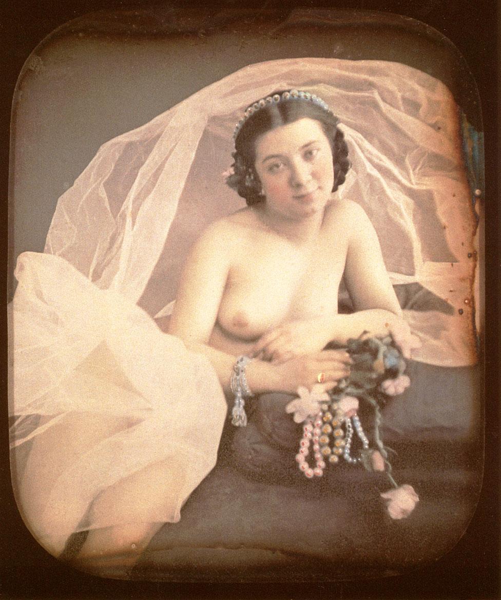 Imagen de una dama desnuda de 1850