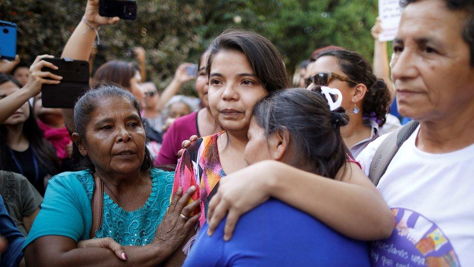 Imelda Kortez nakon što je oslobođena iz pritvora
