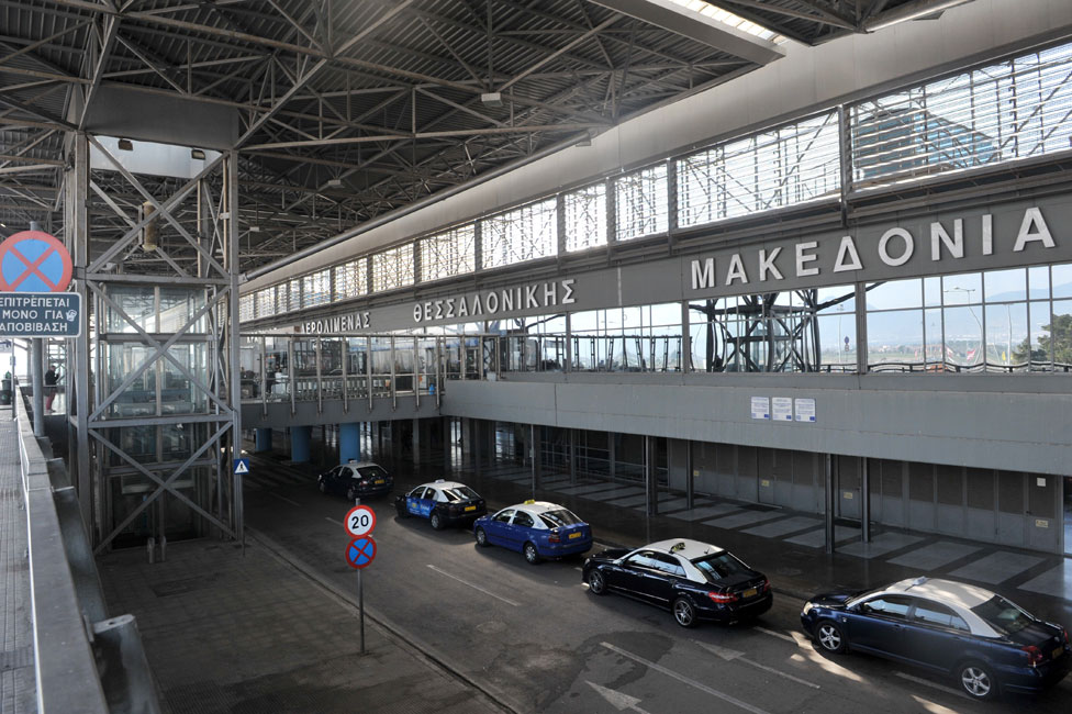 """Thessaloniki's airport is called """"Macedonia"""""""