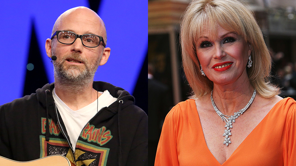 Moby and Joanna Lumley