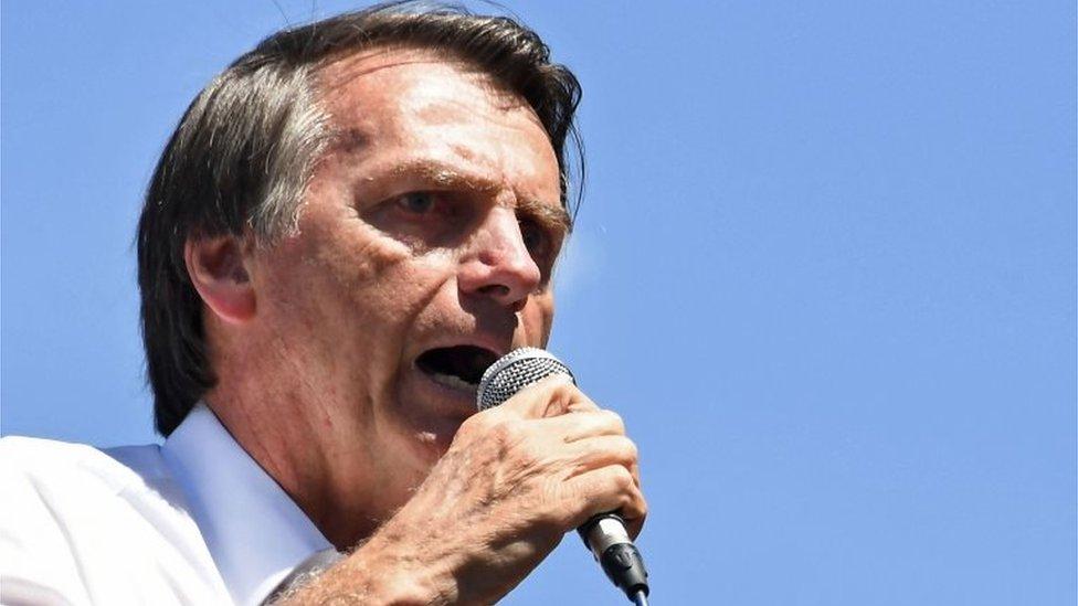 Jair Bolsonaro, candidato presidencial brasileño