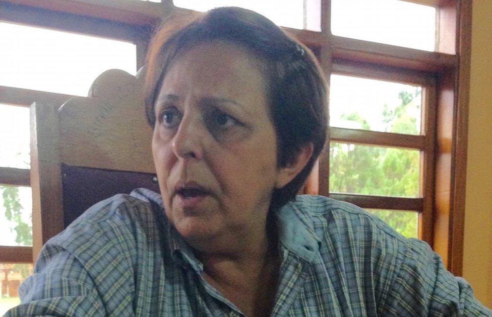 Roseli Ruiz in her office 08 September 2015