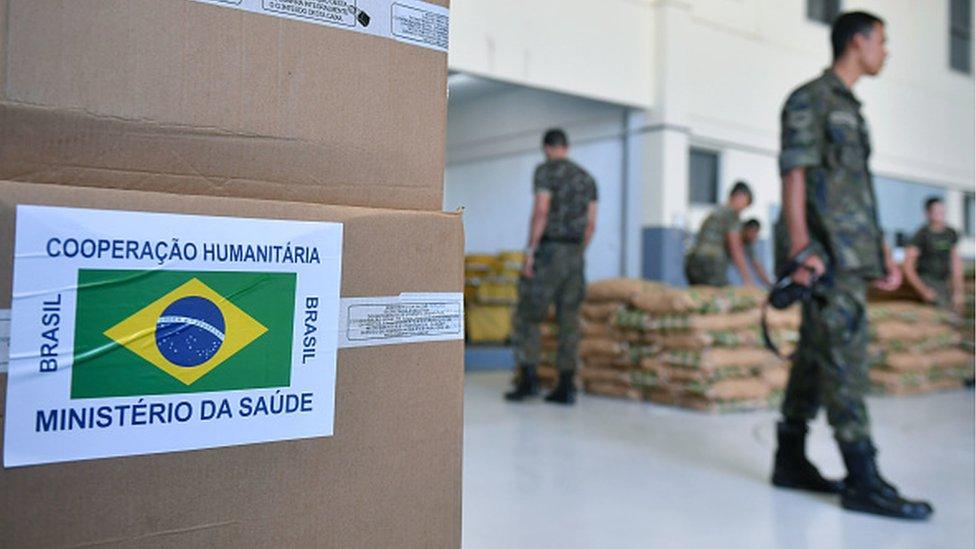 Ayuda humanitaria de Brasil