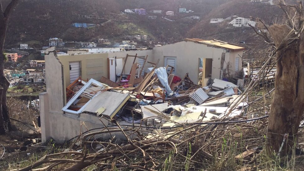 Devastation after Hurricane Irma hit the British Virgin Islands