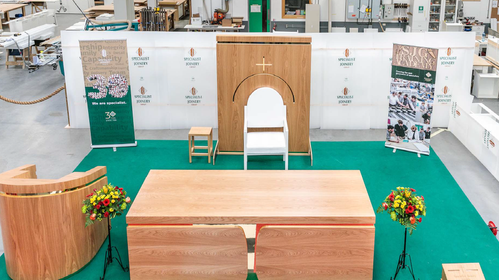 Maghera firm makes chair for Pope Francis