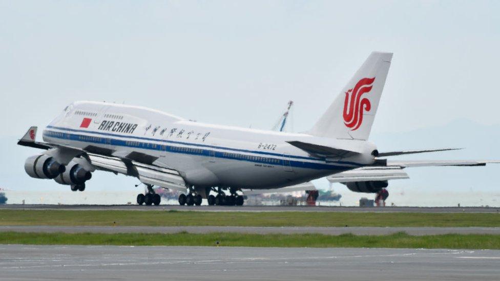 Un avión Boeing usado por Air China.