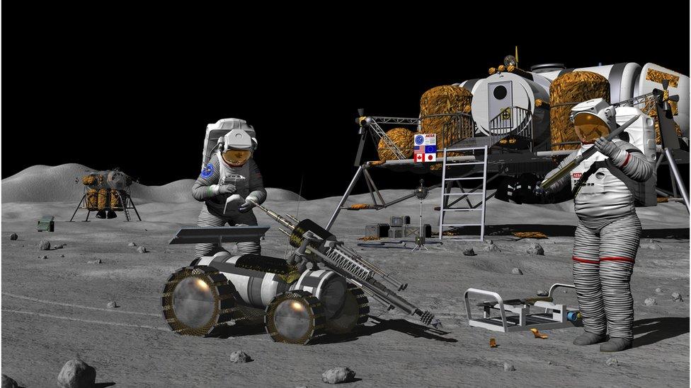 Kosomonauti na Mesecu