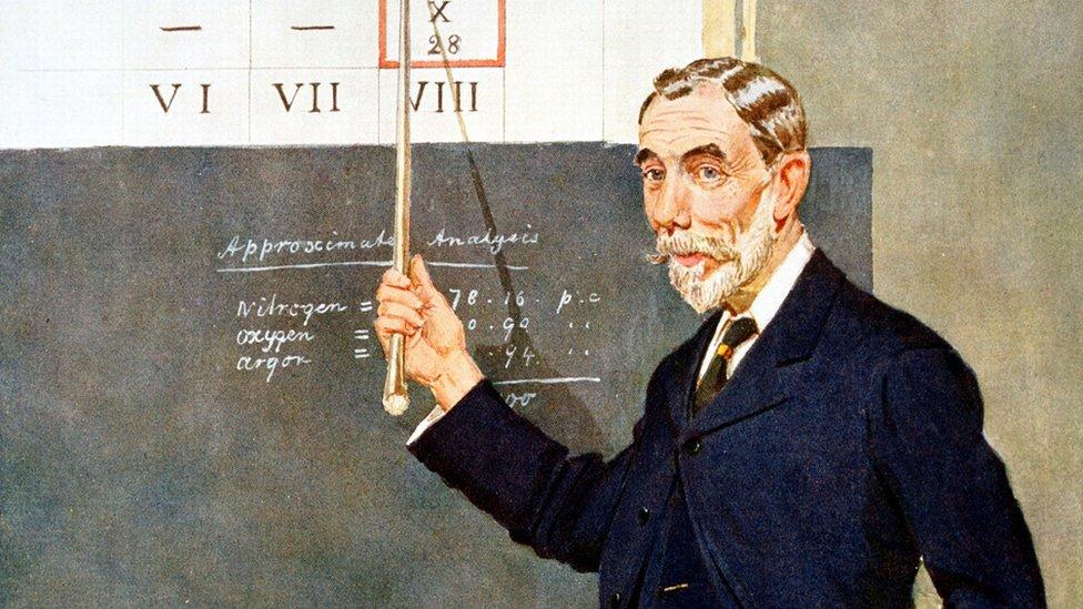 Dibujo de Sir William Ramsay
