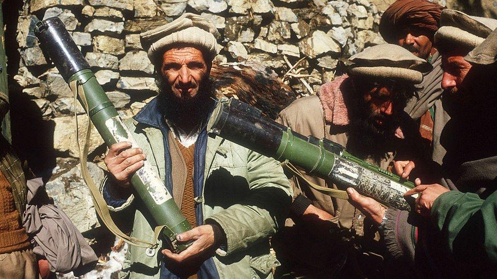 Guerrilleros afganos.
