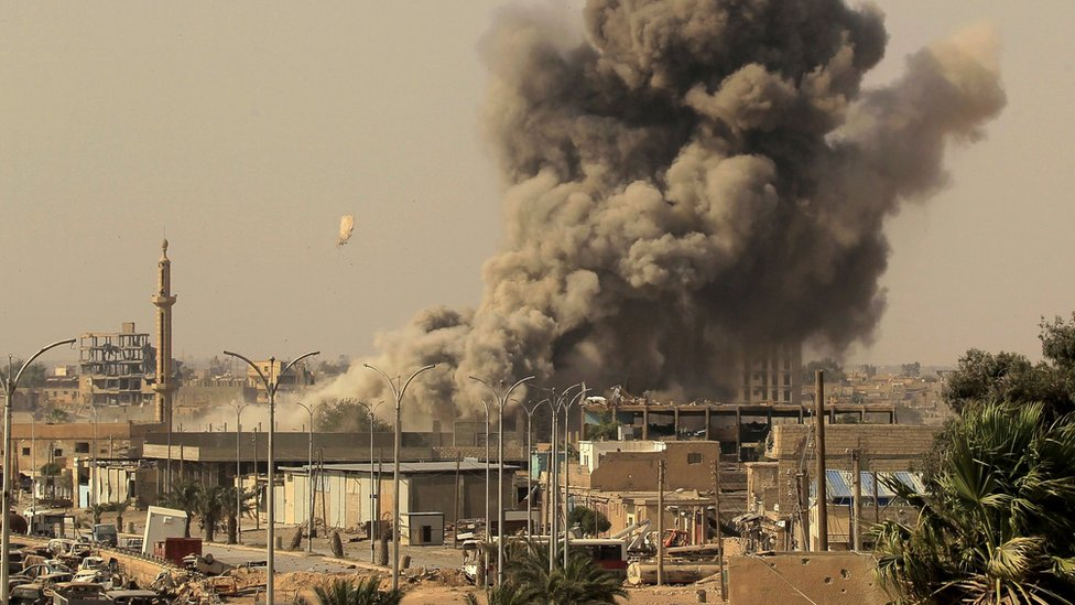 قصف في مدينة الرقة