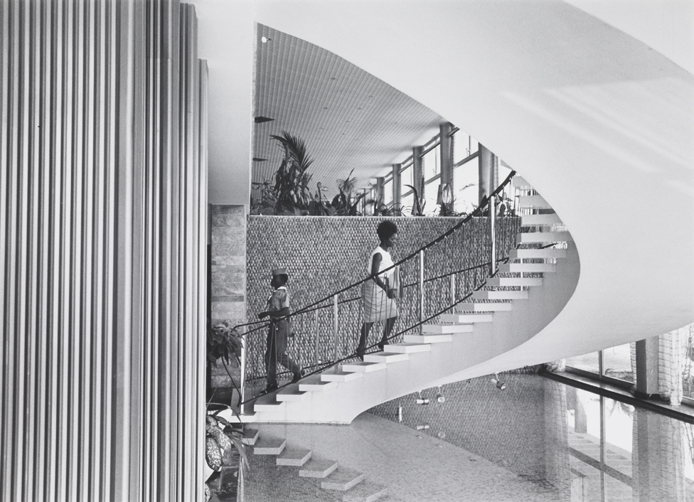 A stairway in Monrovia, Liberia, taken in 1964