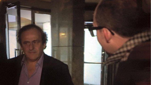 Michel Platini (left) and Richard Conway