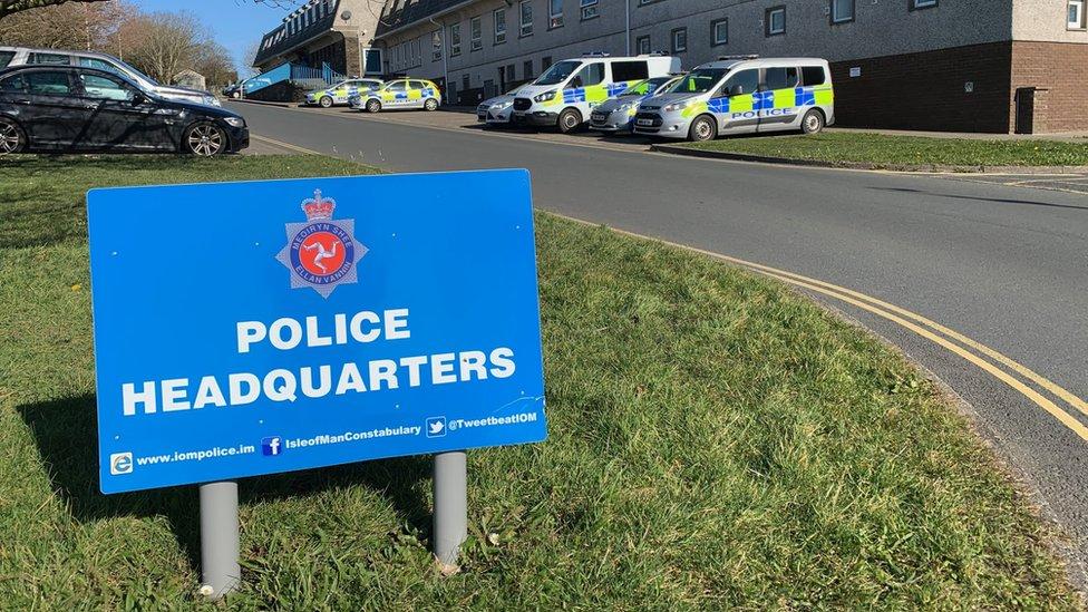 Isle of Man Police Headquarters sign