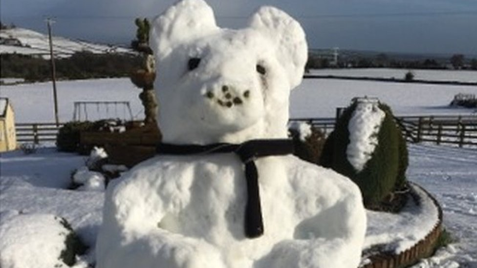 Siobhan Rice sent this photo of a giant snow bear