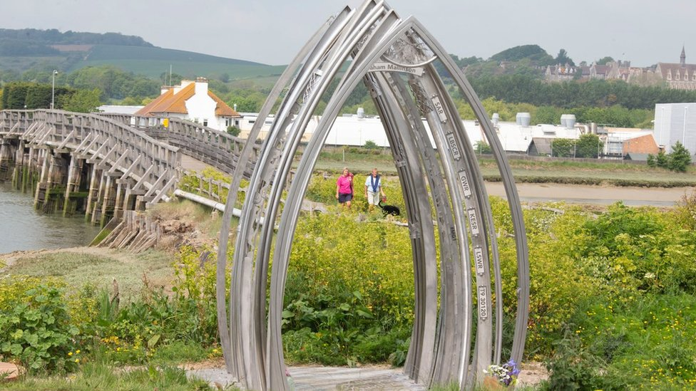 Shoreham air crash memorial emerges along river Adur