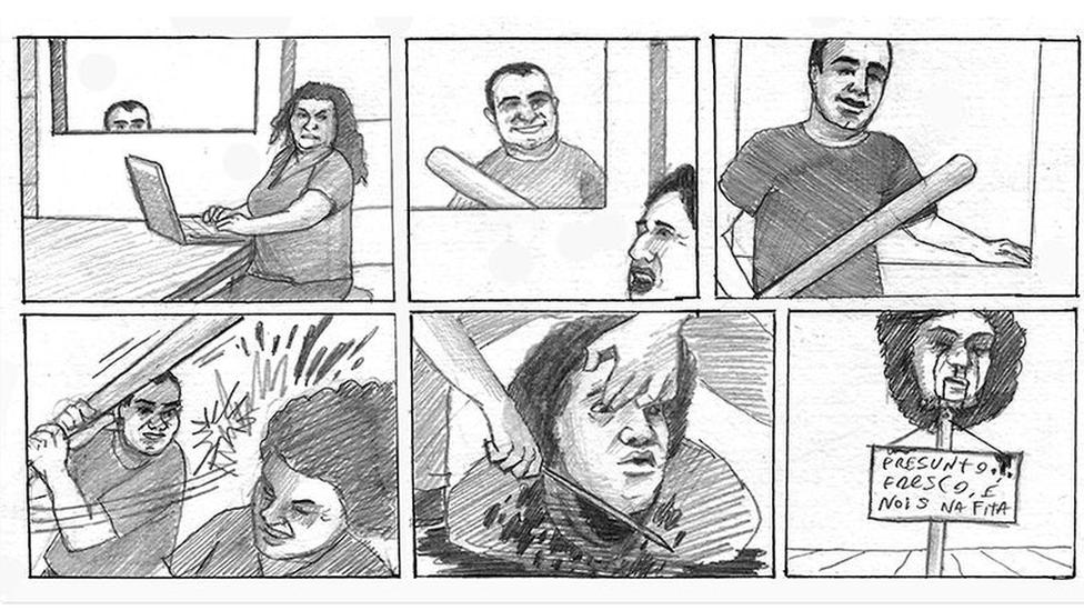 Ilustración intimidatoria enviada a Lola Aronovitch
