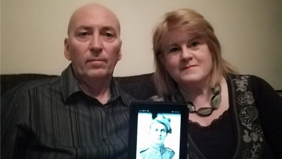 Couple discover relatives died together in WW1