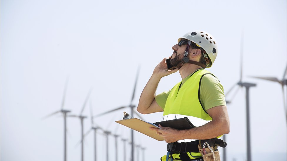 A wind farm engineer