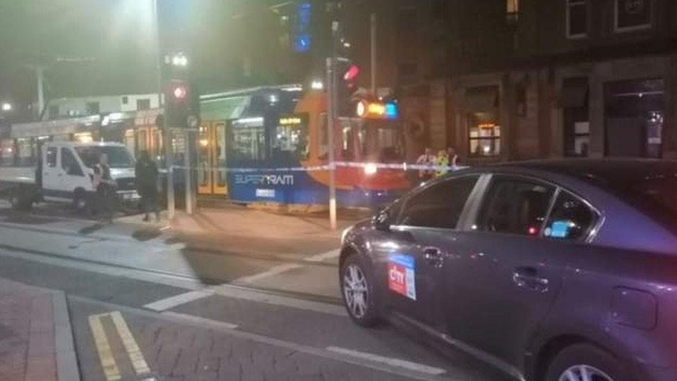 Man seriously injured by Sheffield tram after argument