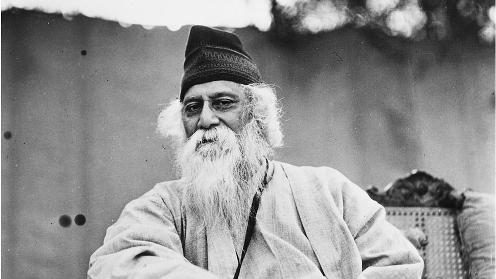 Portrait of Indian author and poet Rabindranath Tagore, circa 1935.