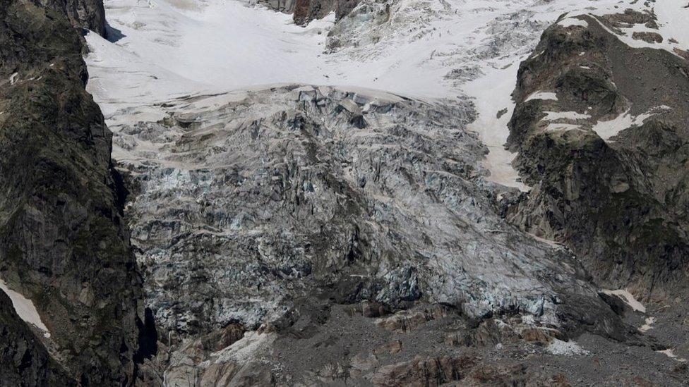 Planpincieux glacier, Mt Blanc massif, 5 Aug 20