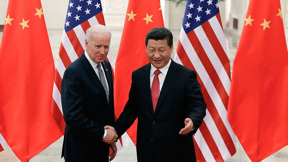 Joe Biden meets Xi Jinping in China