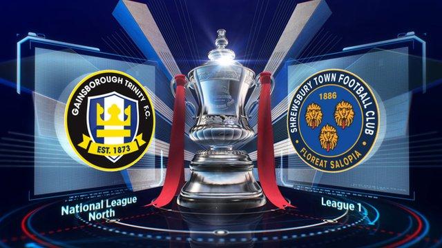 FA Cup: Gainsborough 0-1 Shrewsbury highlights