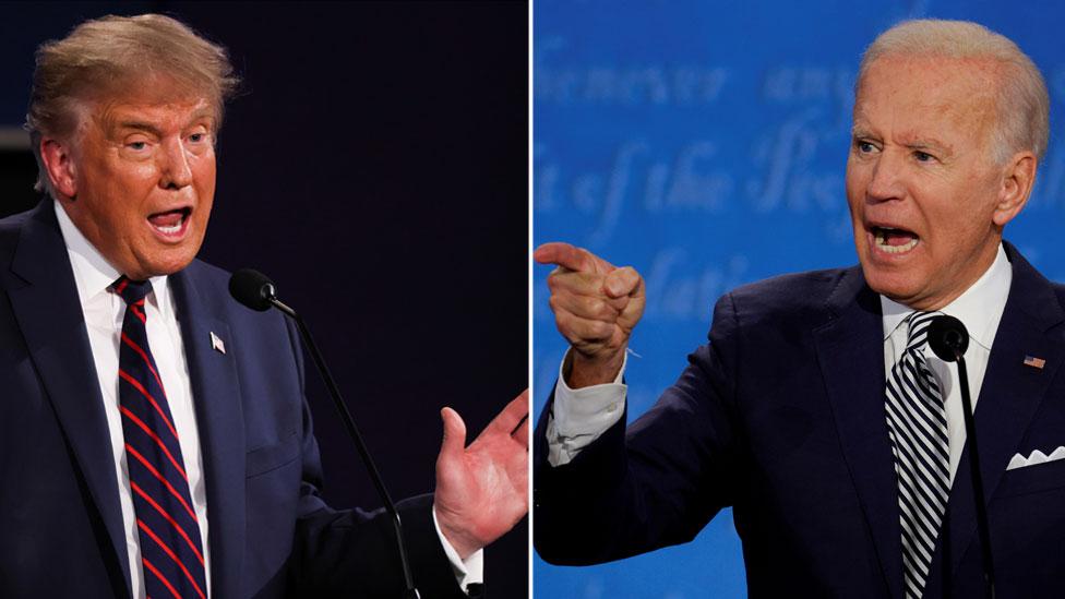 Trump Biden tartışması