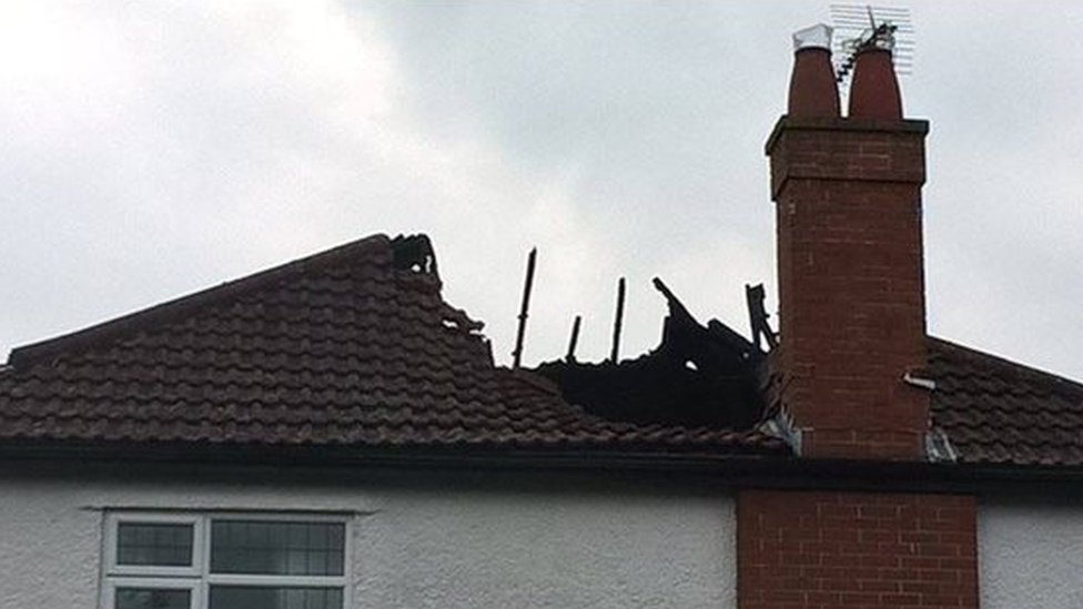 House hit by lightning