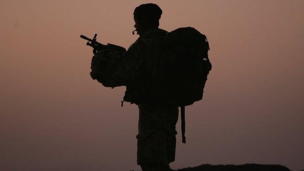 Soldier in Basra, Iraq