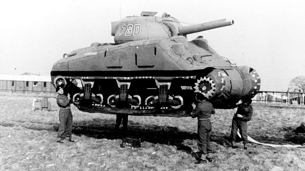 Un tanque de cartón