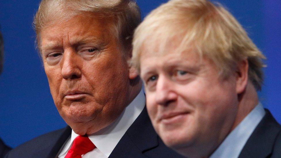2019年12月4日,美國總統唐納德·特朗普和英國首相鮑里斯·約翰遜