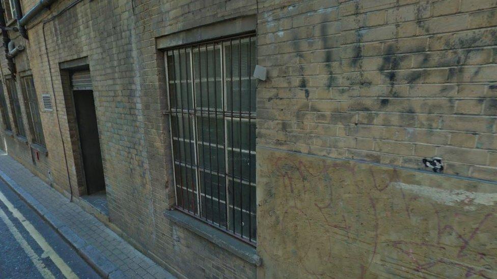 A wall in Bateman's Row